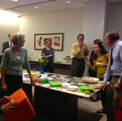 CASA volunteers gather with staff to celebrate another year of giving a voice to children.
